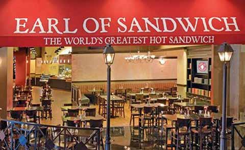 Earl of Sandwich Restaurant at Planet Hollywood Hotel Las Vegas Nevada
