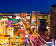 Hotels on vegas strip map